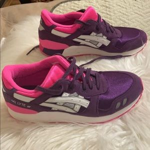 ASICS gel lyte 3 women's pink and purple shoes.